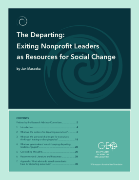 The Departing: Exiting Nonprofit Leaders as Resources for Social Change