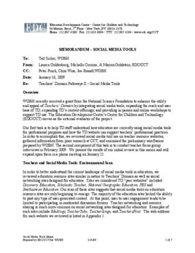 WGBH Teachers' Domain Pathways II: Social Media Tools