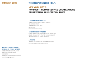 The Helpers Need Help: New York City's Nonprofit Human Service Organizations Persevering in Uncertain Times