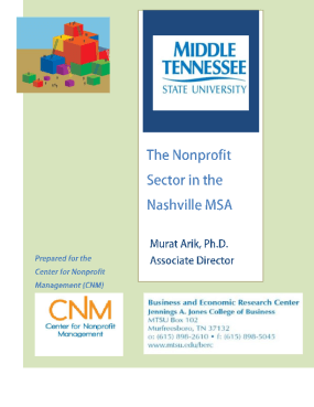 The Nonprofit Sector in the Nashville MSA