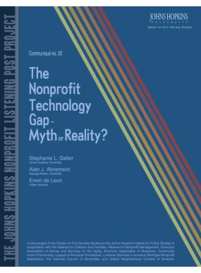 The Nonprofit Technology Gap - Myth or Reality?