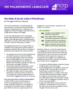 The State of Social Justice Philanthropy