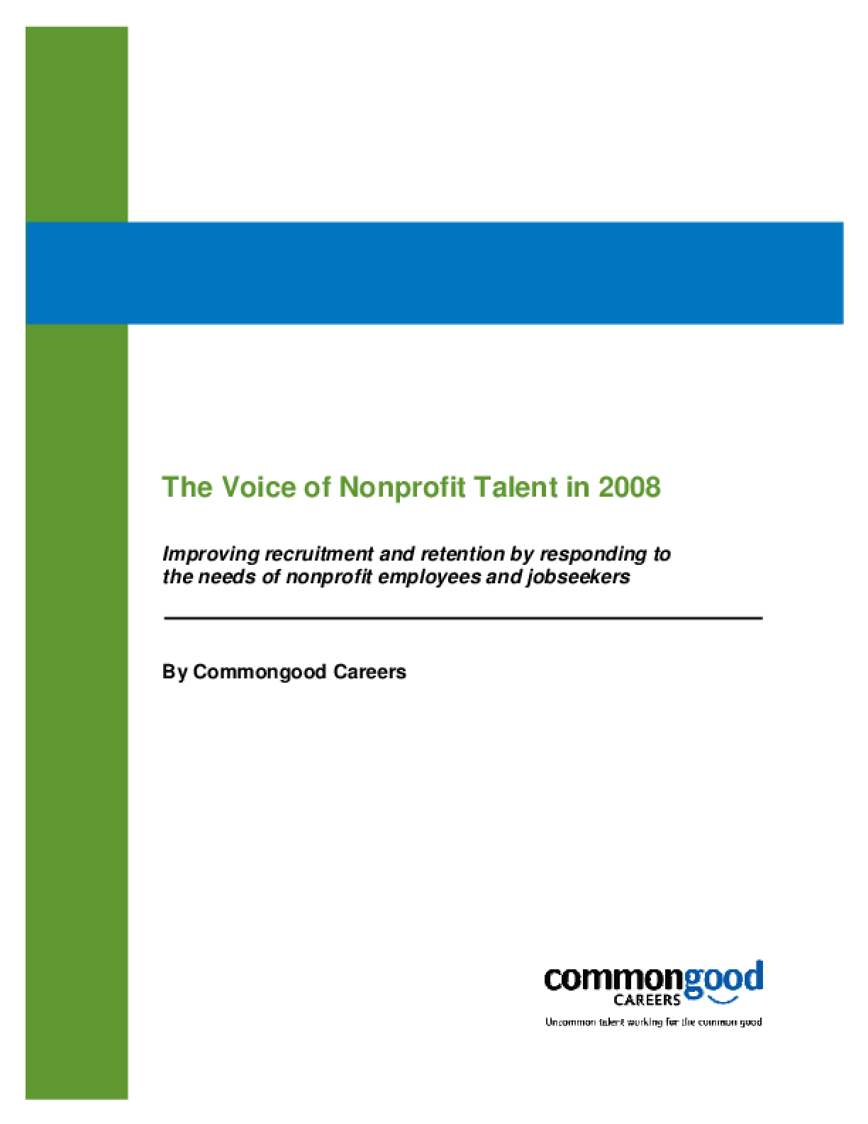 The Voice of Nonprofit Talent in 2008