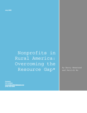 Nonprofits in Rural America: Overcoming the Resource Gap