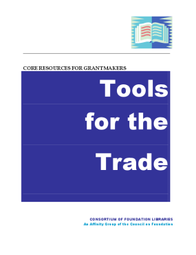 Tools for the Trade: Core Resources for Grantmakers