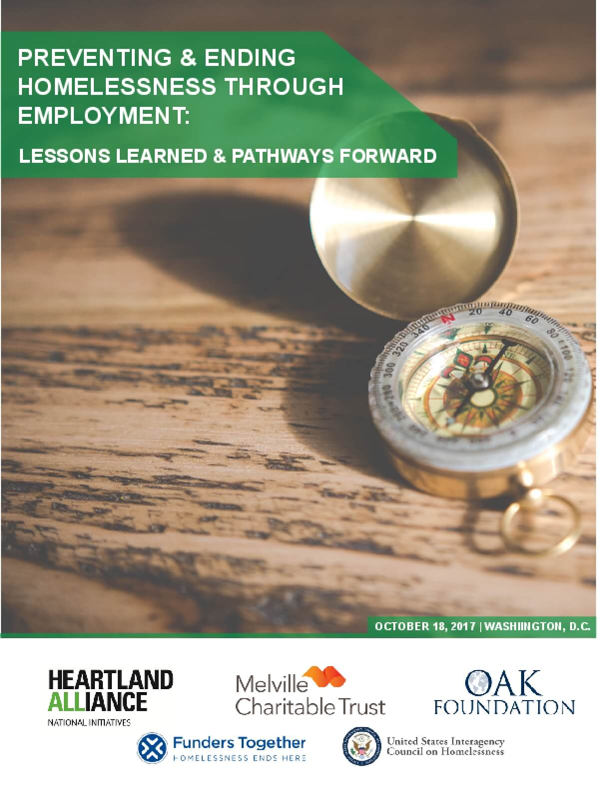 Preventing & Ending Homelessness Through Employment: Lessons Learned & Pathways Forward - 2017 National Summit