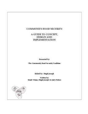 Community Food Security: A Guide to Concept, Design, and Implementation