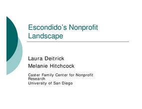 A Snapshot of Escondido's Nonprofit Sector