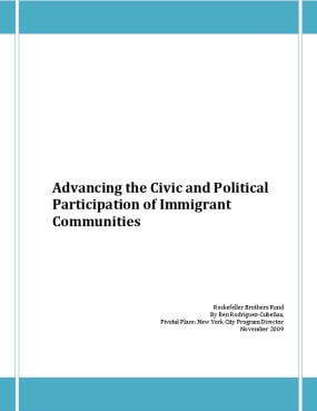 Advancing the Civic and Political Participation of Immigrant Communities