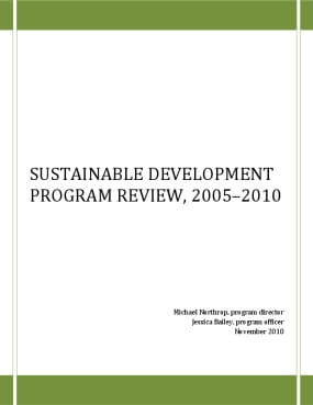 Sustainable Development Program Review, 2005–2010