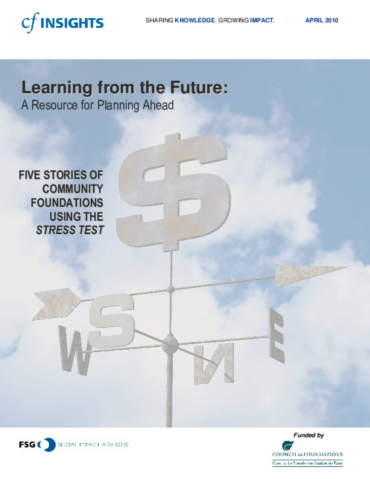 Learning from the Future: A Resource for Planning Ahead – Five Stories of Community Foundations Using the Stress Test