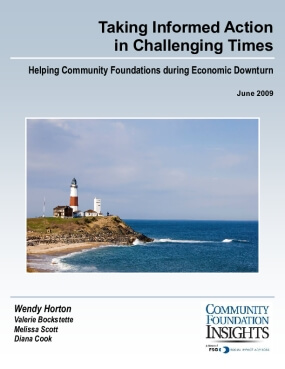 Taking Informed Action in Challenging Times: Helping Community Foundations during Economic Downturn