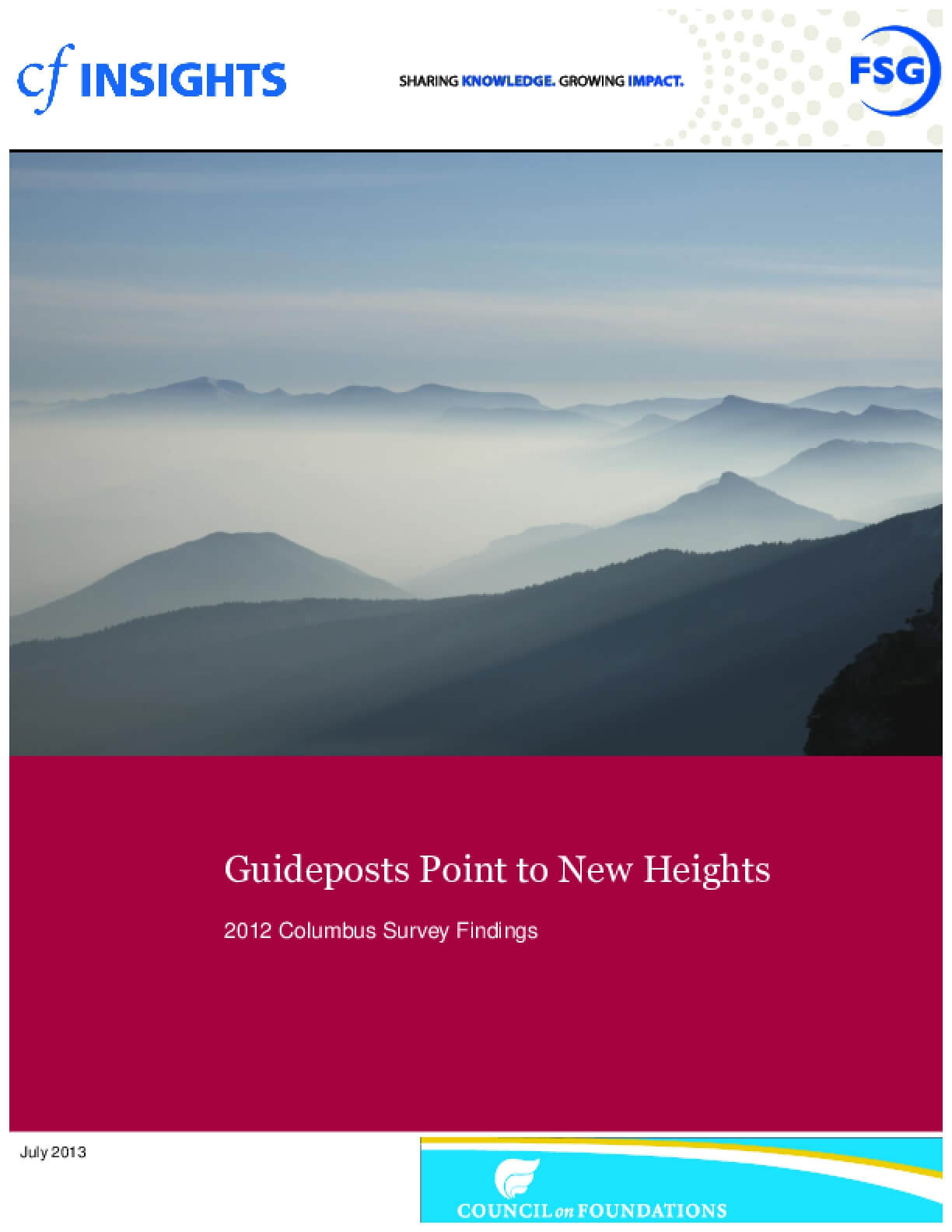 2012 Columbus Survey Results: Guideposts Point to New Heights