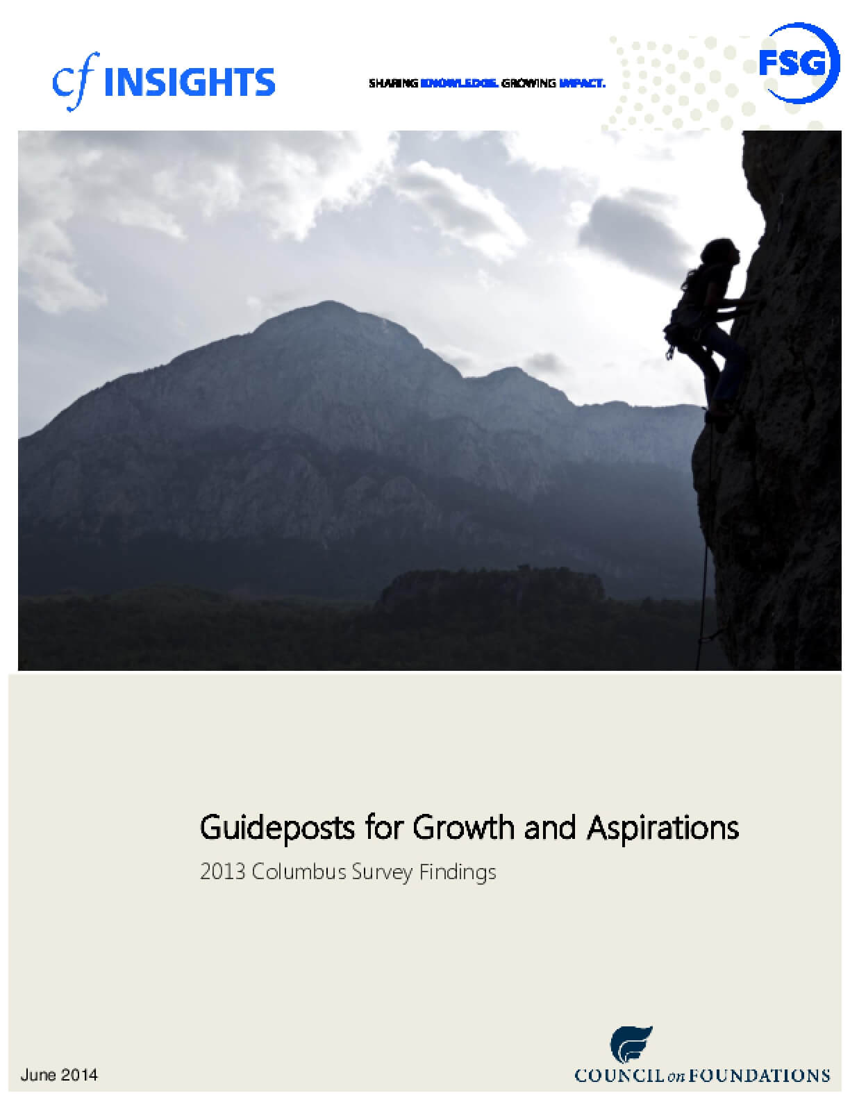 2013 Columbus Survey Results: Guideposts for Growth and Aspirations