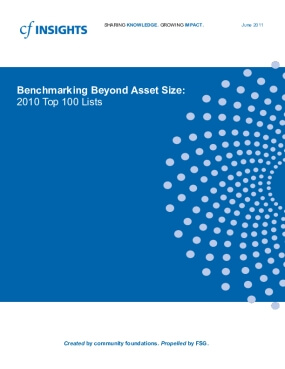 Benchmarking Beyond Asset Size Top 100 Lists - FY 2010