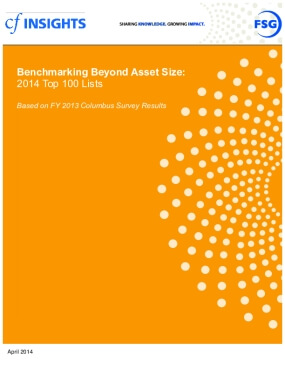 Benchmarking Beyond Asset Size Top 100 Lists - FY 2013