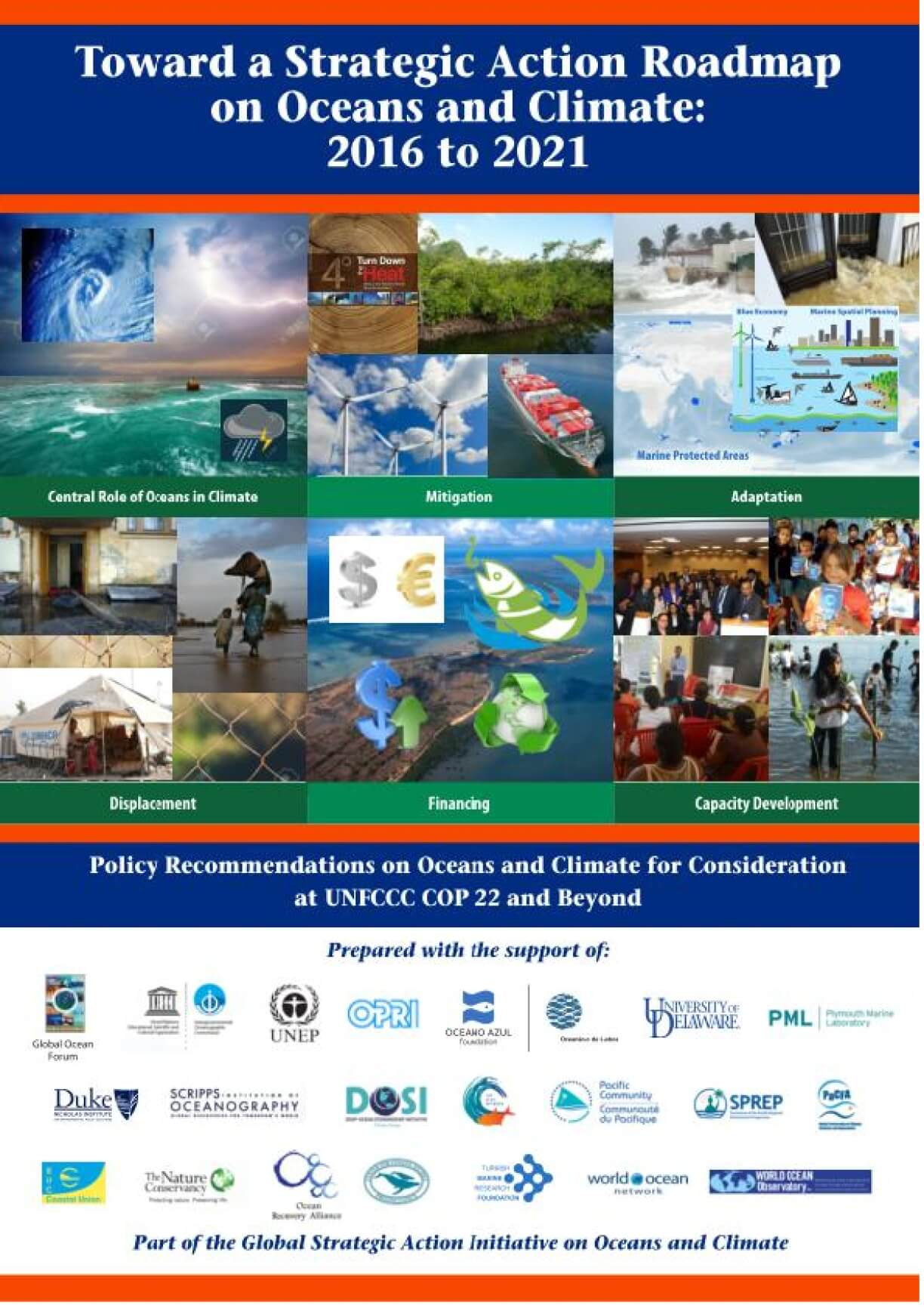 Toward a Strategic Action Roadmap on Oceans and Climate: 2016 to 2021