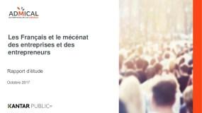 Les Français Et Le Mécénat Des Entreprises Et Des Entrepreneurs : Rapport D'étude
