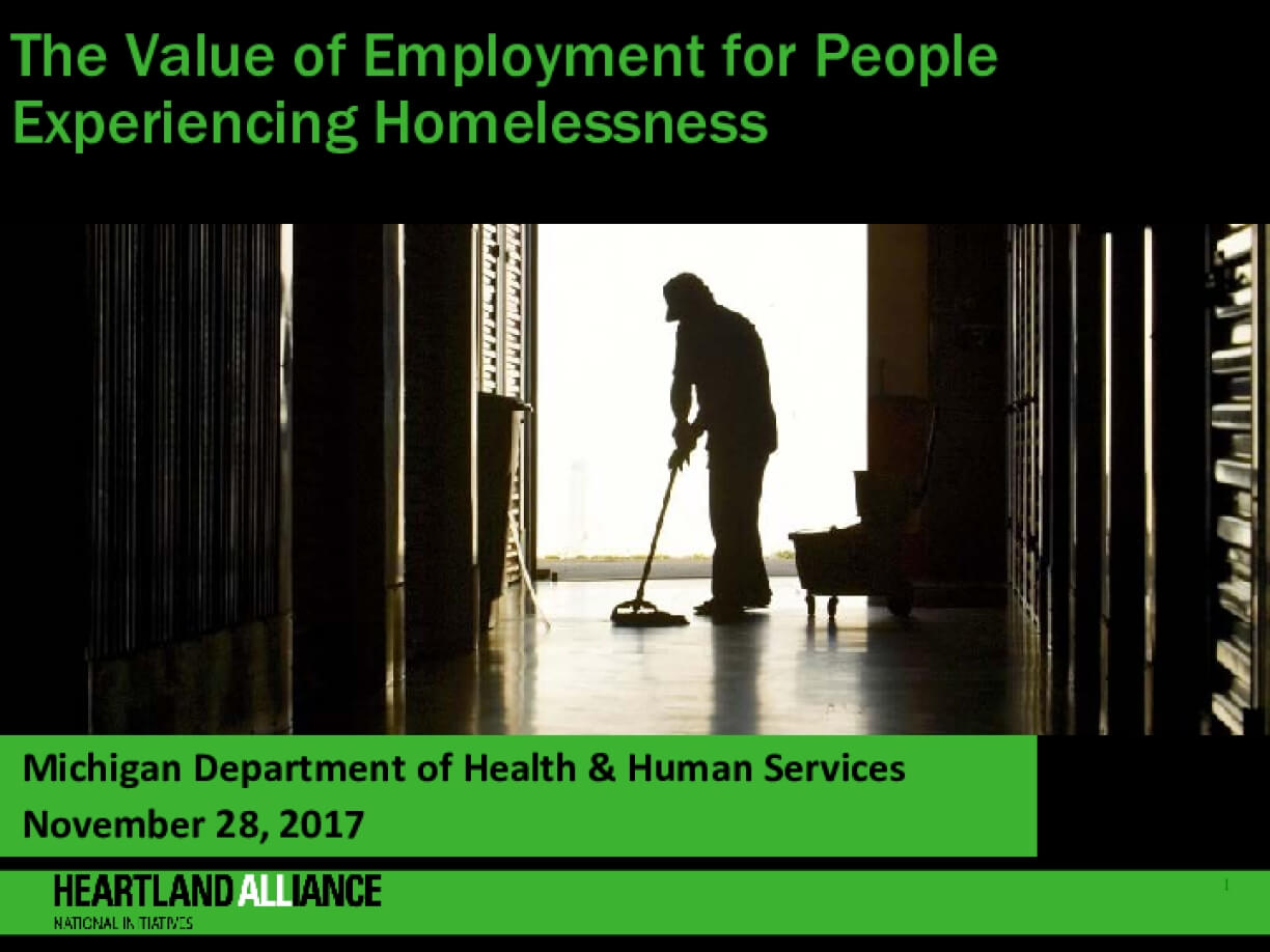The Value of Employment for People Experiencing Homelessness_Webinar Slides