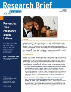 Preventing Teen Pregnancy Among Latinos: Recommendations from Research, Evaluation, and Practitioner Experience
