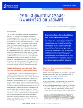 How to Use Qualitative Research