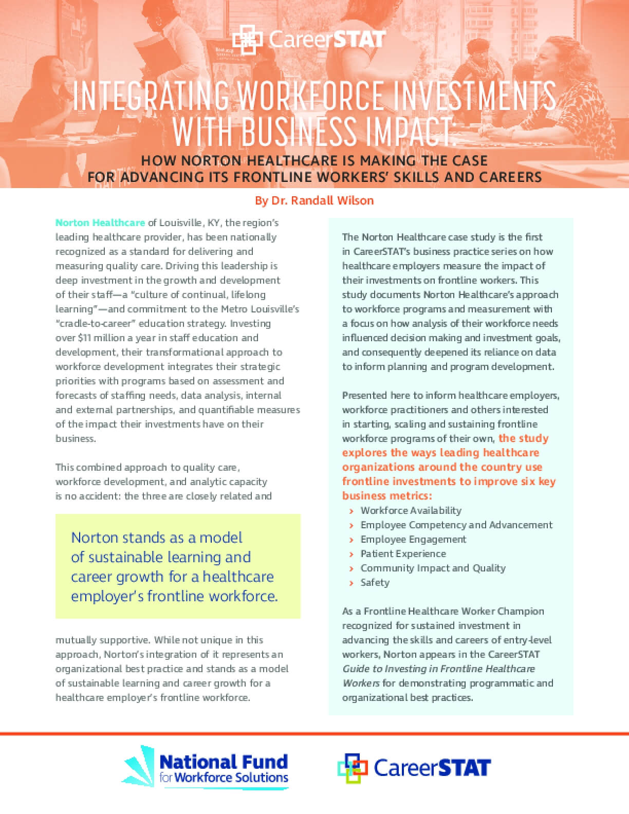 Norton Healthcare: Integrating Workforce Investments with Business Impact