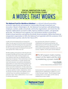 SIF Scales the National Fund: A Model that Works