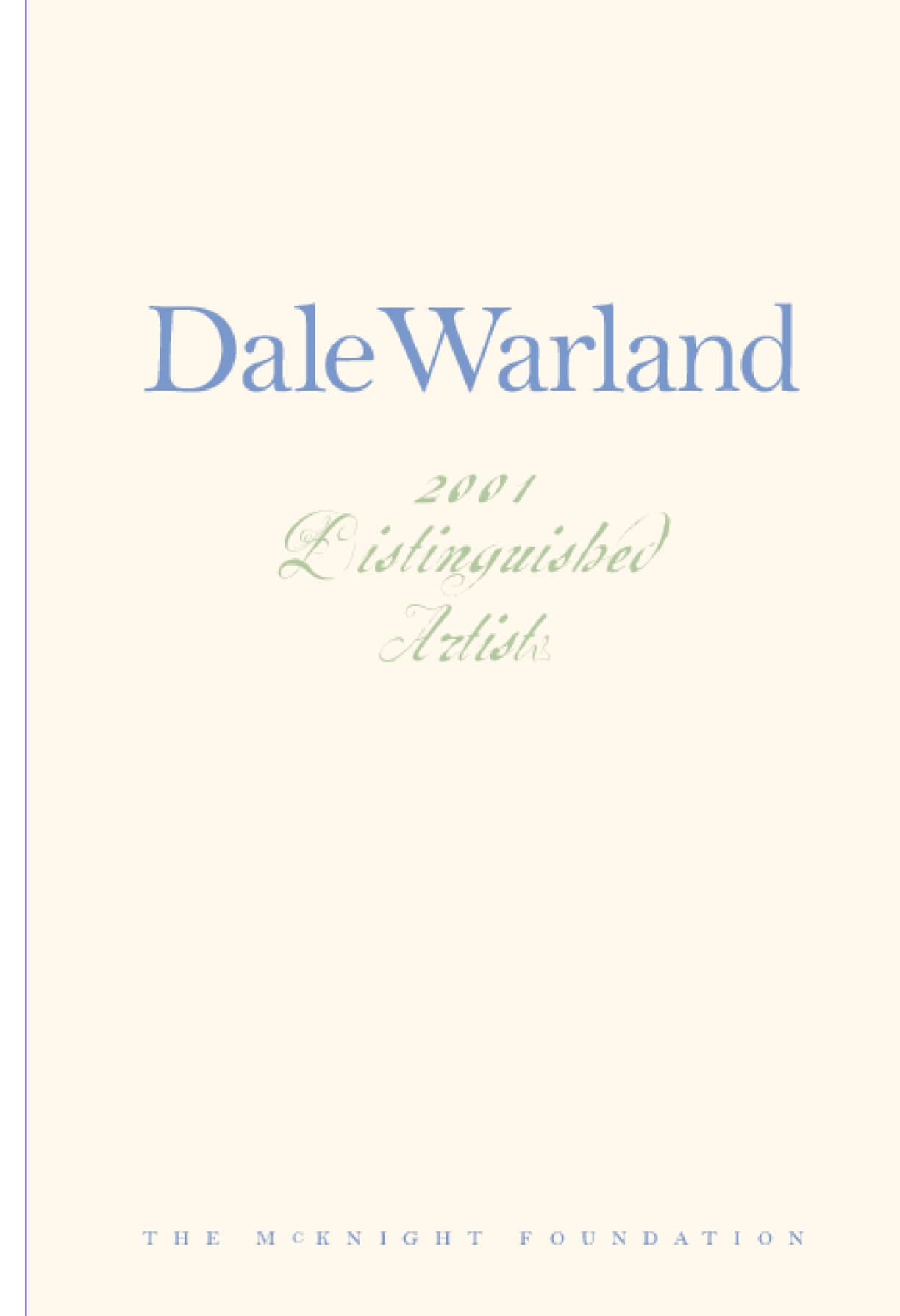 Dale Warland: 2001 McKnight Distinguished Artist