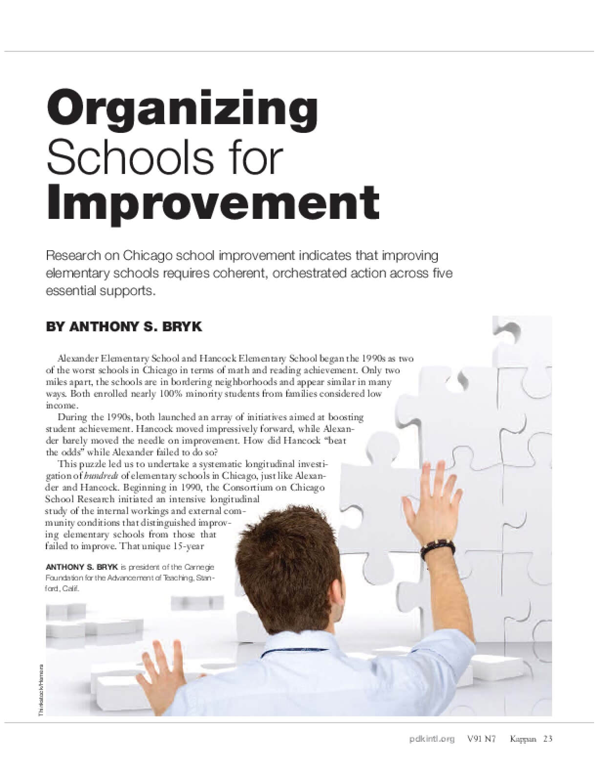 Organizing Schools for Improvement