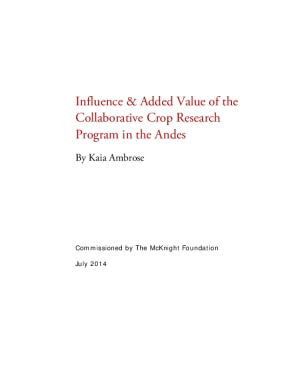 Influence & Added Value of the Collaborative Crop Research Program in the Andes