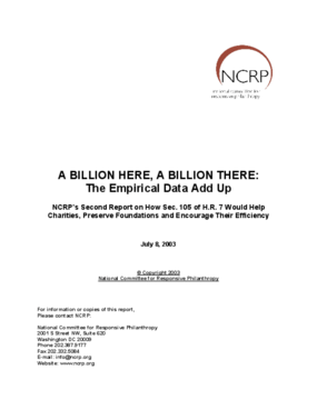 A Billion Here, a Billion There: The Empirical Data Add Up