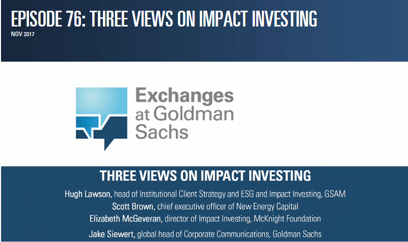 Three Views On Impact Investing