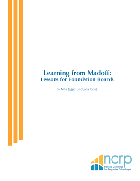 Learning from Madoff: Lessons for Foundation Boards