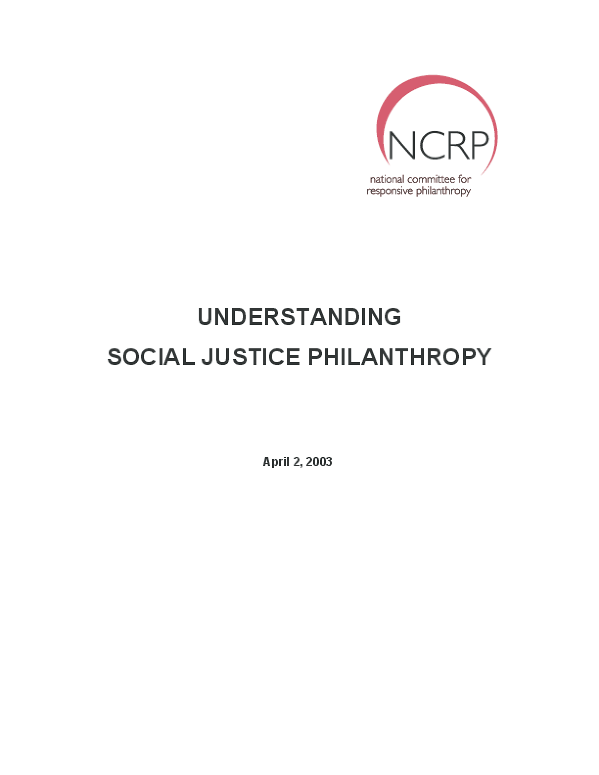 Understanding Social Justice Philanthropy