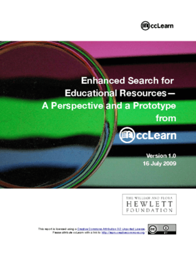 Enhanced Search for Educational Resources - A Perspective and a Prototype from ccLearn