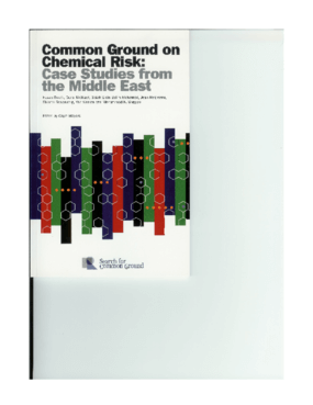 Common Ground on Chemical Risk: Case Studies from the Middle East