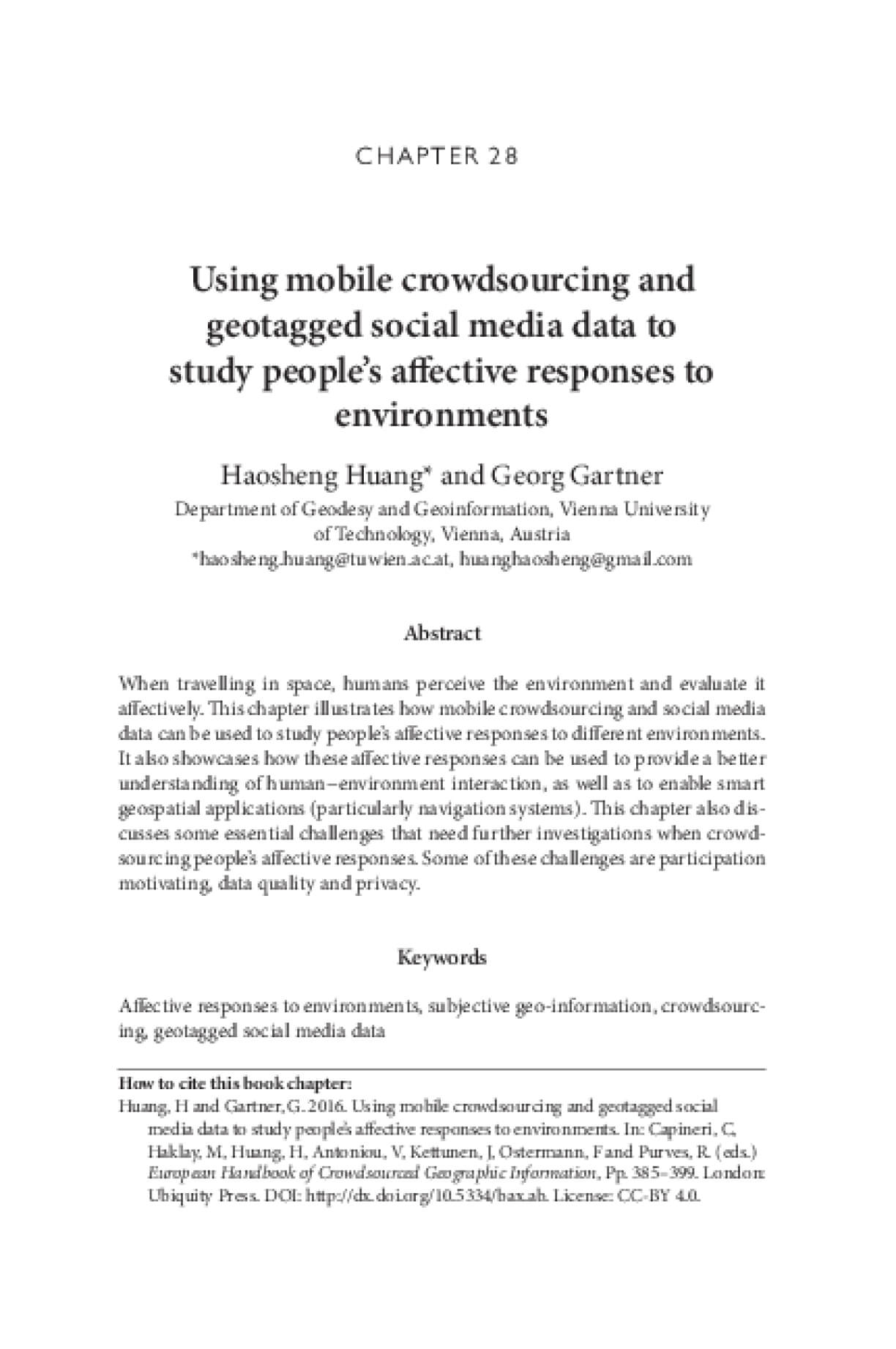 Using mobile crowdsourcing and geotagged social media data to study people's affective responses to environments
