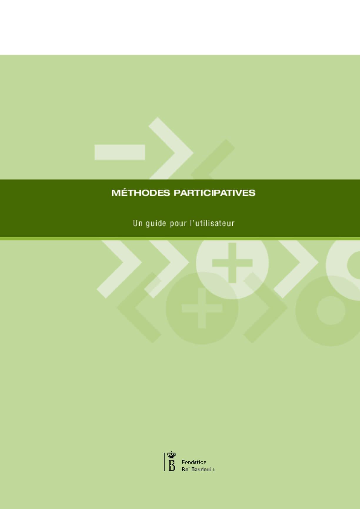 Méthodes participatives. Un guide pour l'utilisateur