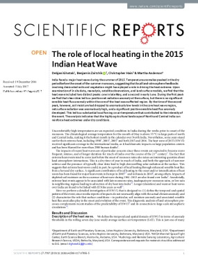The Role of Local Heating in the 2015 Indian Heat Wave