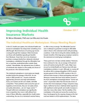 Improving Individual Health Insurance Markets