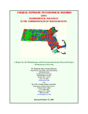 Unequal Exposure to Ecological Hazards 2005: Environmental Injustices in the Commonwealth of Massachusetts