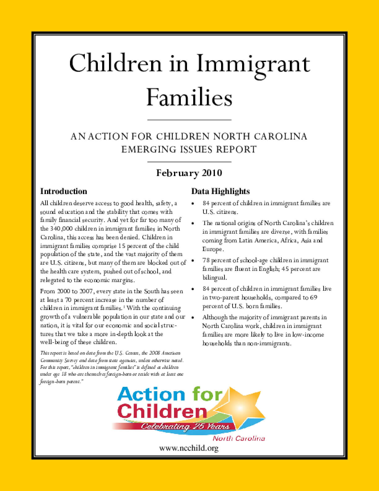 Children in Immigrant Families