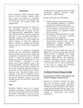 Woodstock Institute 2000 Annual Report