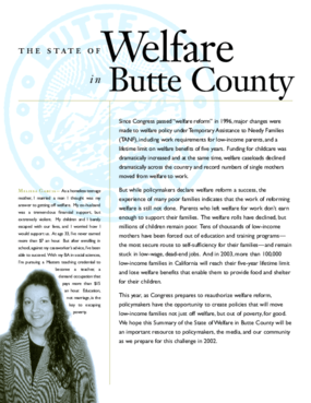 The State of Welfare in Butte County