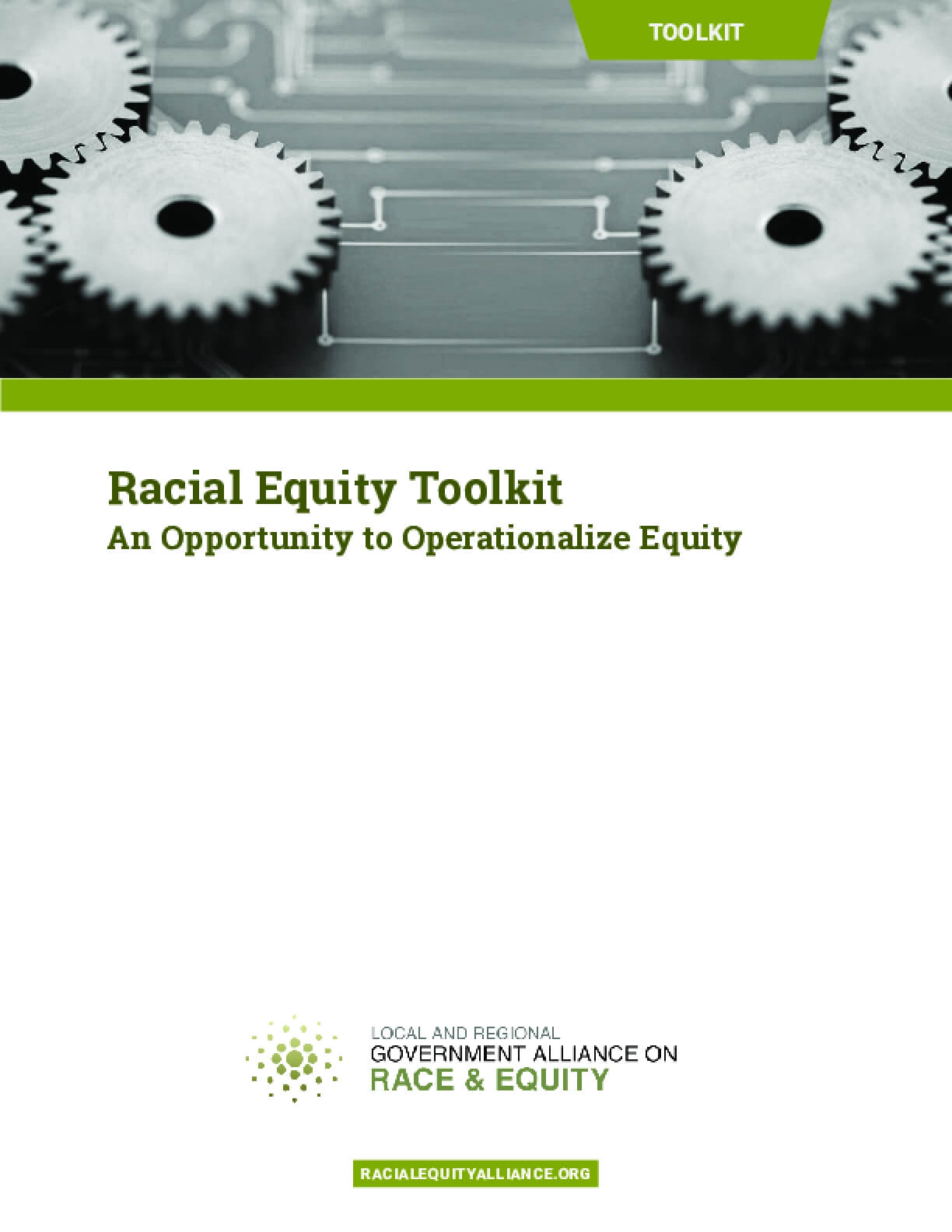 Racial Equity Toolkit: An Opportunity to Operationalize Equity