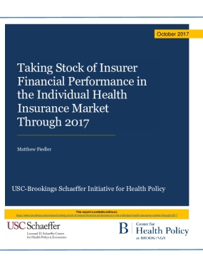 Taking Stock of Insurer Financial Performance in the Individual Health Insurance Market Through 2017