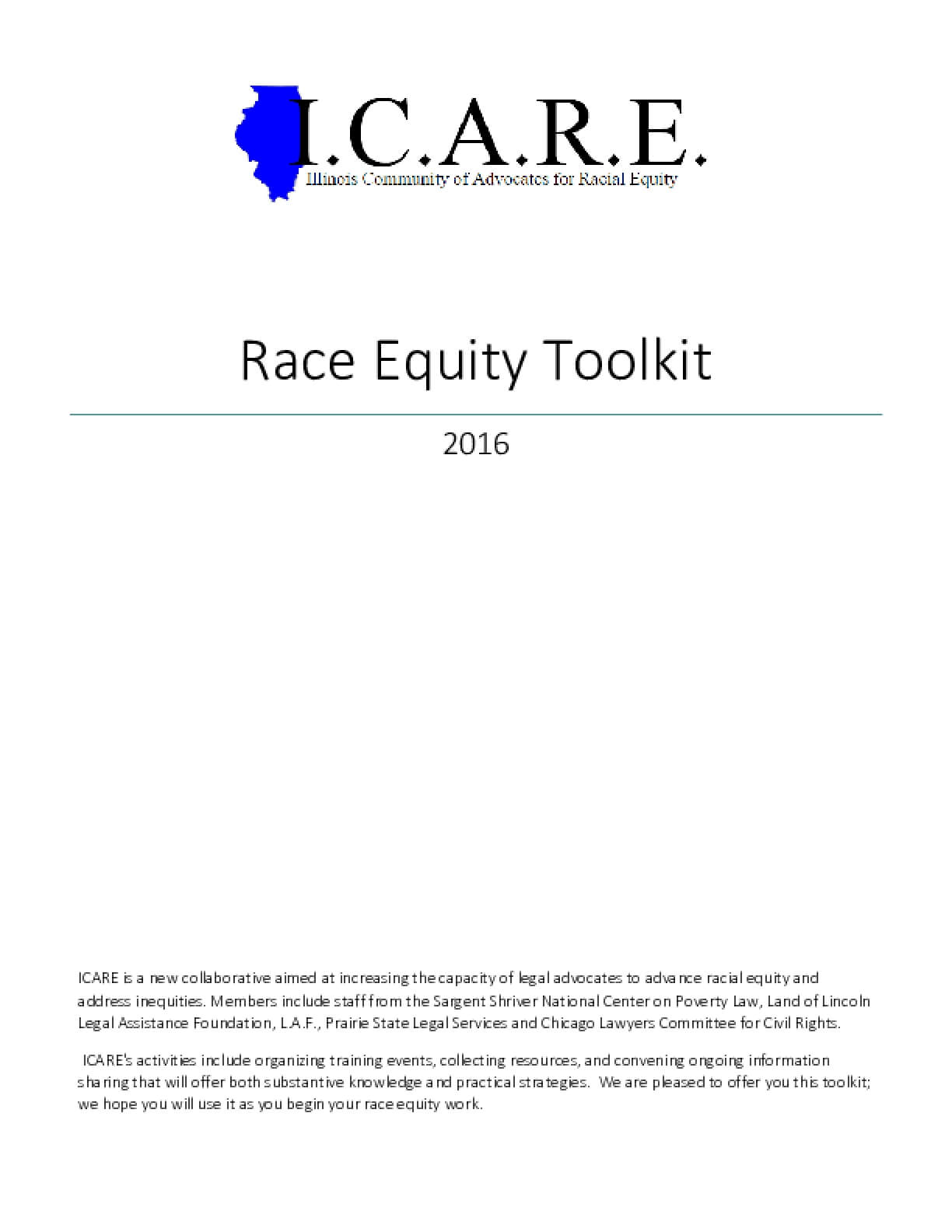 Race Equity Toolkit