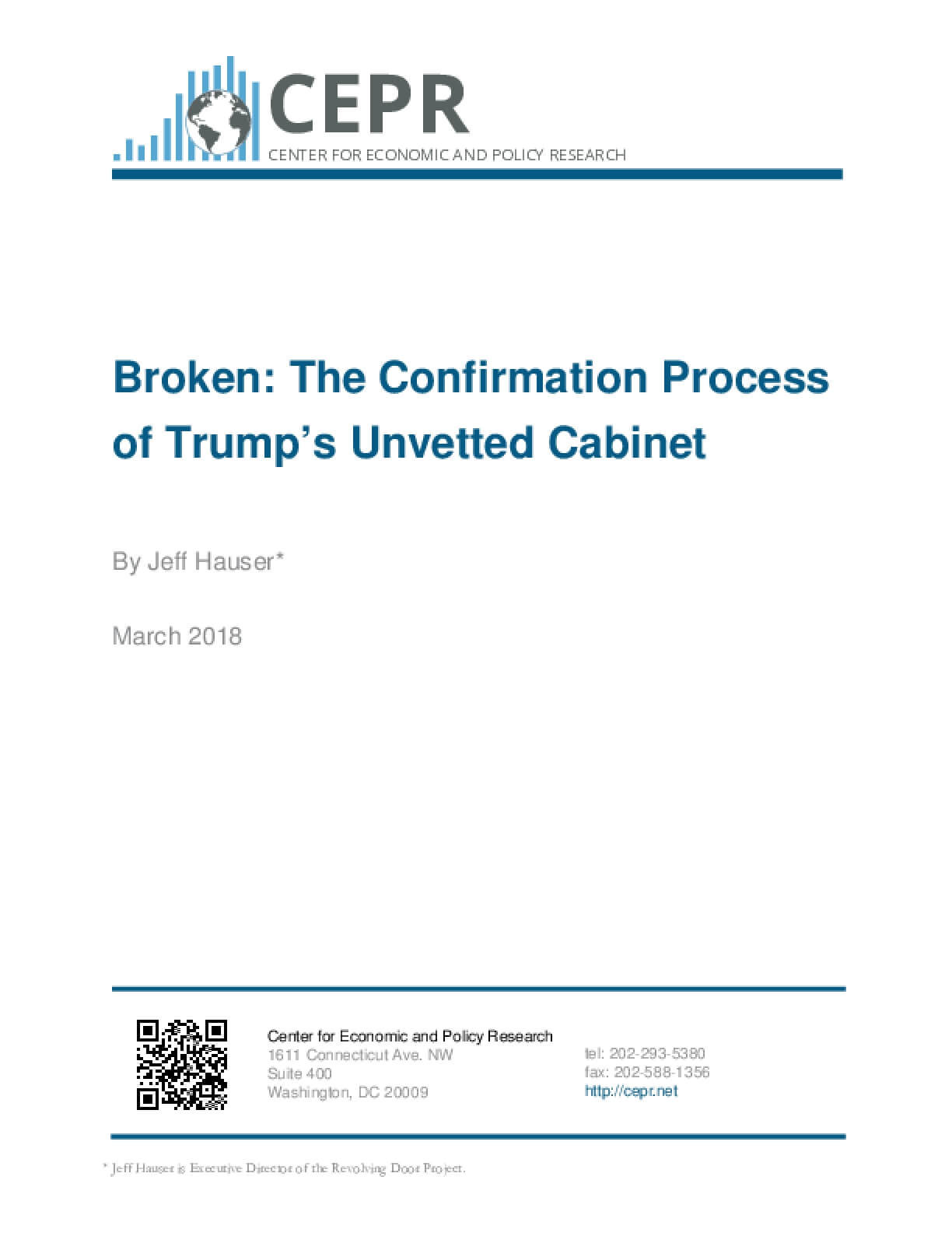 Broken: The Confirmation Process of Trump's Unvetted Cabinet
