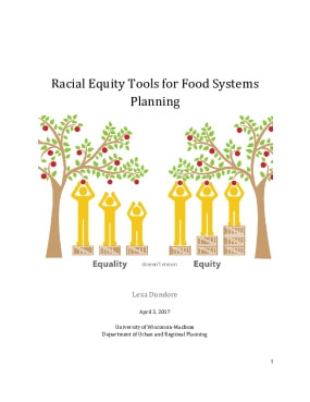 Racial Equity Tools for Food Systems  Planning