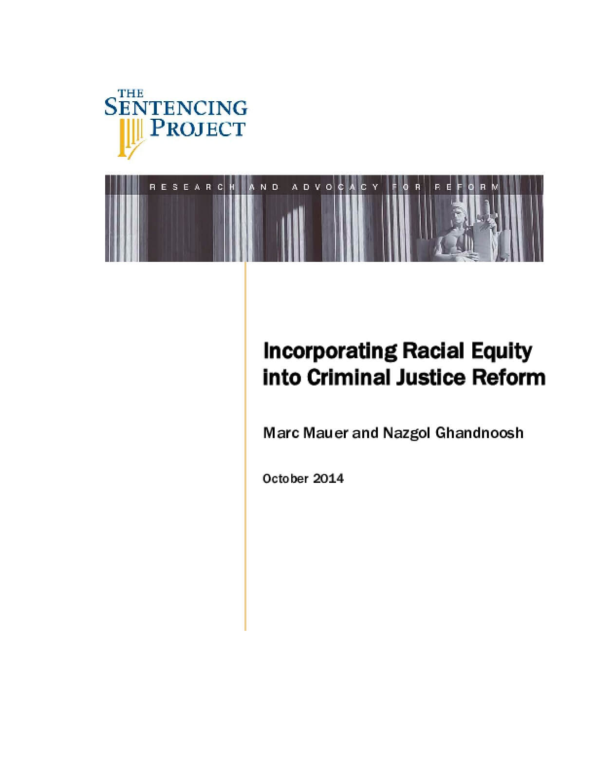 Incorporating Racial Equity into Criminal Justice Reform